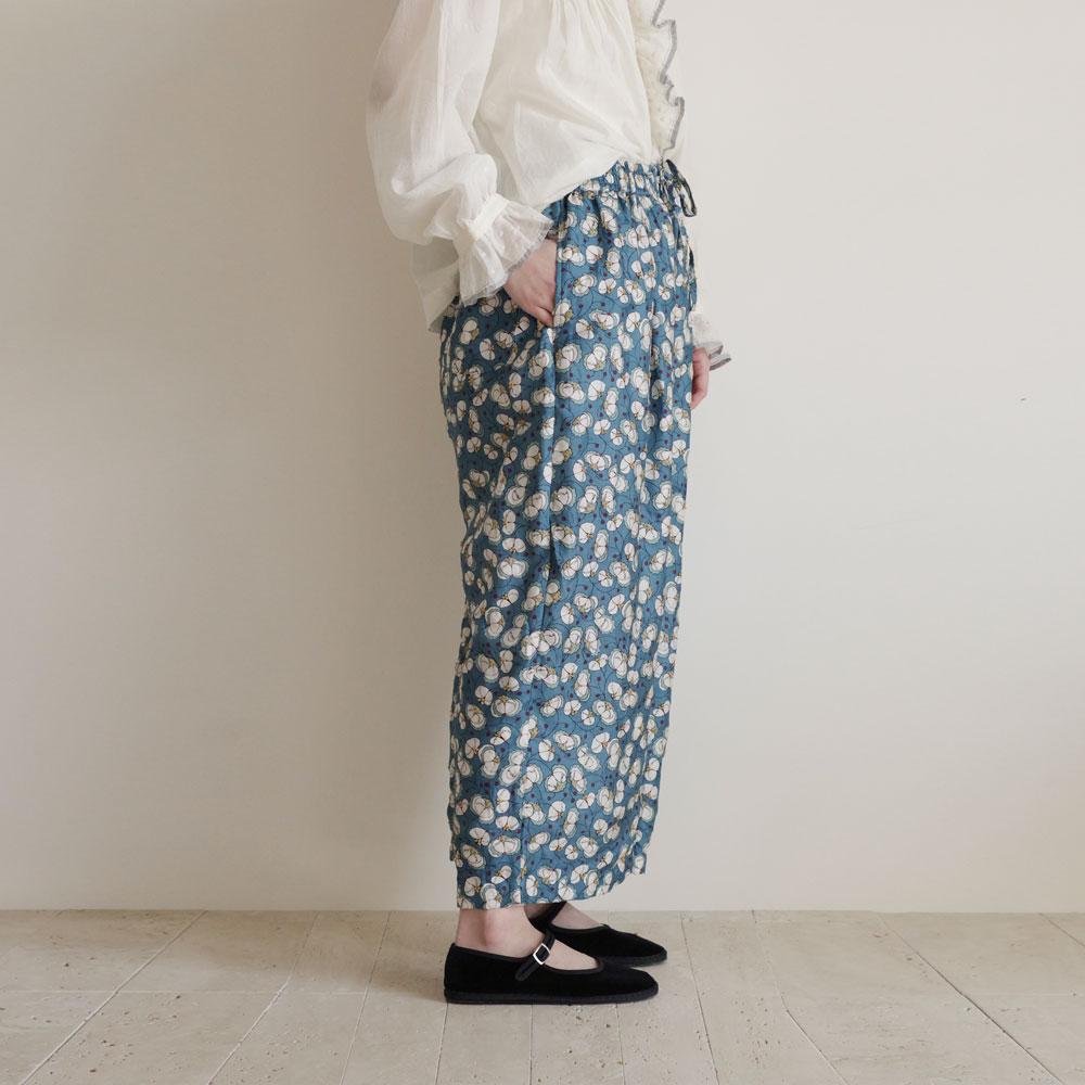 ブノン BUNON : Tuck Pants 花柄プリントパンツ