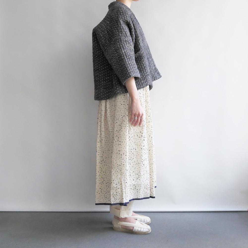 ネルークマール NEERU KUMAR : Kantha Jacket カンタ刺繍ジャケット(グレー)