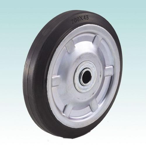 スチールパイプ製二輪運搬車用 車輪 P200G