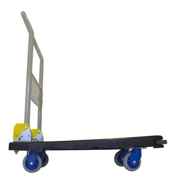 中型静音樹脂台車(ハンドル折畳式)フットブレーキ付 NP-206GS