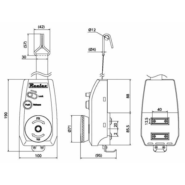 台車用荷締リール LocFIT(ロックフィット) LF-3037