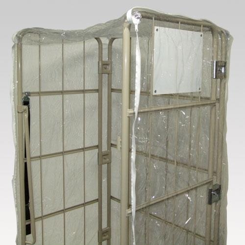 カゴ車用防塵カバー 透明 CBT-5 W1100×D800×H1700用