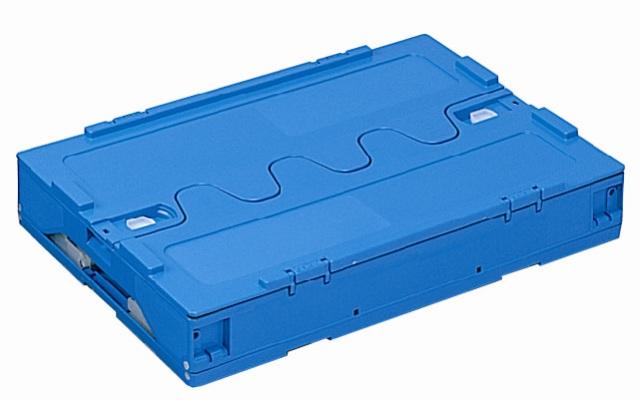 オリタタミコンテナー RP-50B(開閉蓋付) ブルー/透明