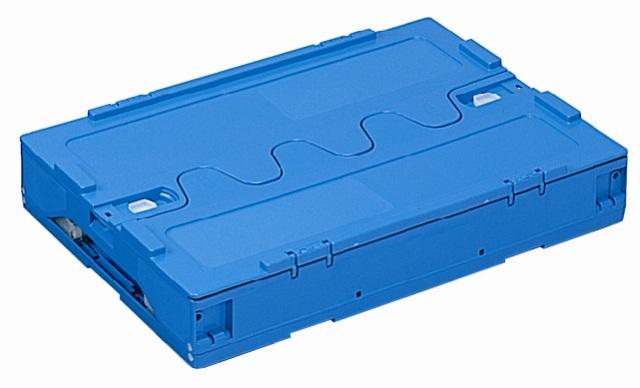 オリタタミコンテナー RP-40B(開閉蓋付) ブルー/透明