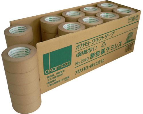 クラフトテープ 無包装ラミレスNo.2240 60mm×50m[40巻入]