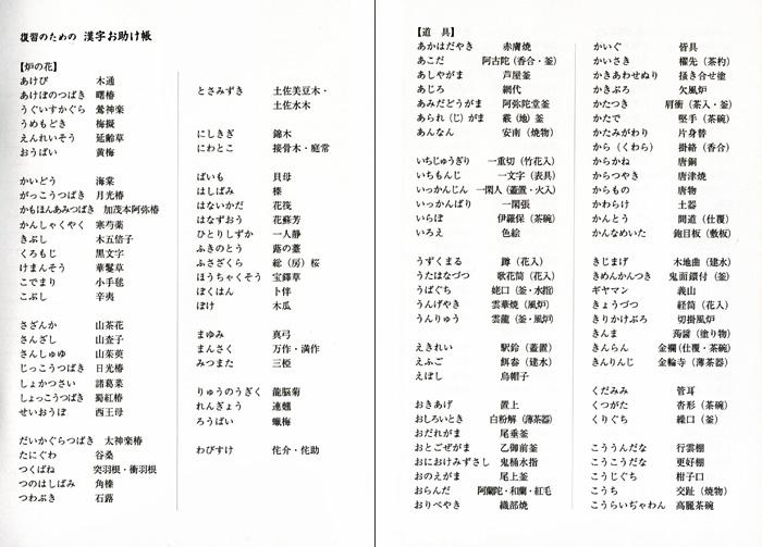 お稽古ノート 炉編