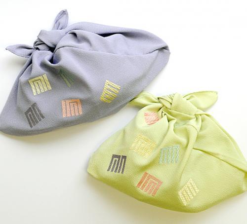 【きねや】刺繍入り三角袋 源氏香