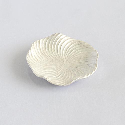 【高橋朋子】銀彩蓮皿 3.5寸