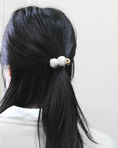 【高橋朋子】落花生の髪留め