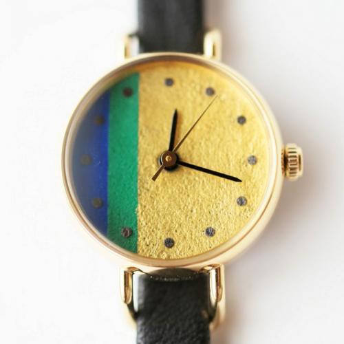 【シーブレーン】手仕事腕時計 はなもっこ 杜若 《限定3》