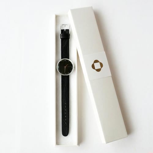【シーブレーン】手仕事腕時計 はなもっこ 黒漆(男女兼用サイズ)