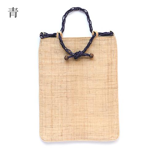【きねや】近江麻のくみひも持ち手トートバッグ(たて長)