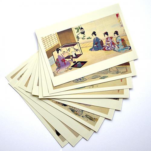 ポストカード 女性と茶の湯(10柄)