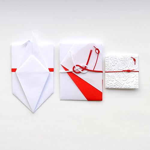 【和工房包結】紅白ぽち袋3点セット