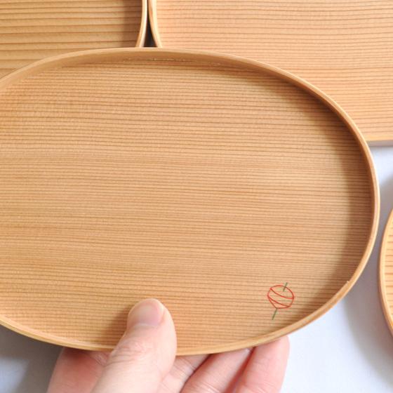 【くらふとばんしょう】漆絵楕円小皿(5枚組)
