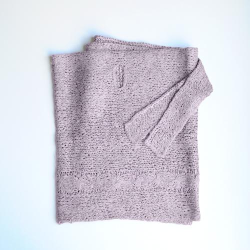 【5Lira】裂き編みシルク多機能ショール ライラック