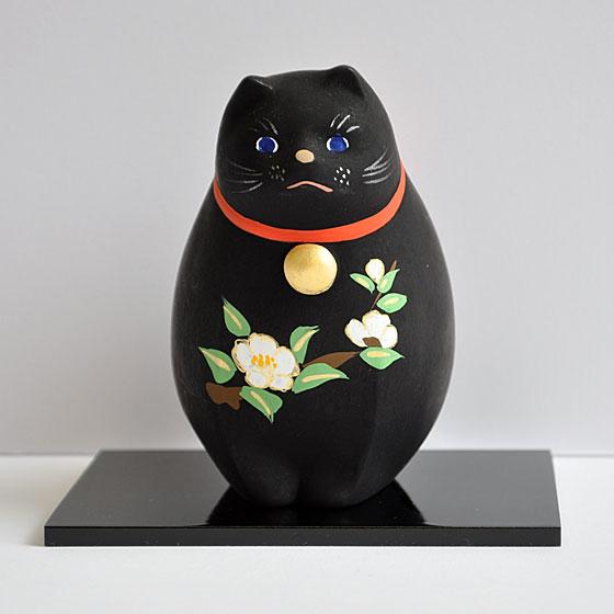 【小田益人形工房】土鈴 四季猫 椿