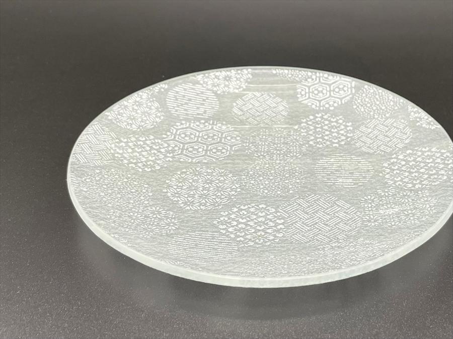 ガラス製 銘々皿