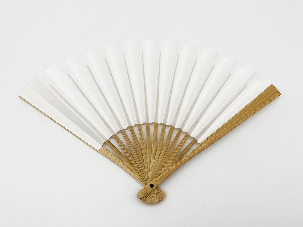 茶席扇 白扇  宮脇賣扇庵製(女性用/男性用)