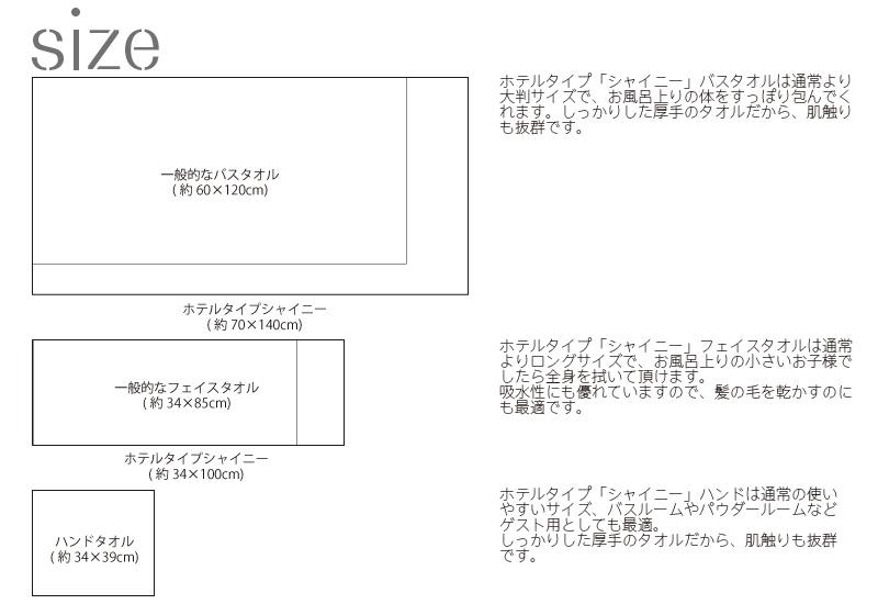 【バスタオル 3枚セット】豪華ホテルタイプ シャイニー バスタオル 大判 3枚セット 送料無料 日本製 泉州タオル 吸水性抜群