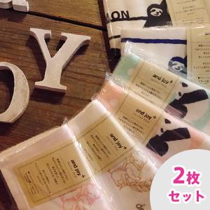 【お試し2枚セット】and joy+ エンジョイプラス ガーゼ フェイスタオル 同柄2枚セット 送料無料 日本製 泉州タオル