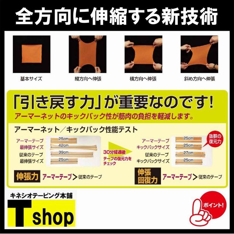 【全国送料無料】アーマーテープ 50�×25� BOX100枚入り 各色 伸縮性抜群 肌にやさしく剥がれにくい