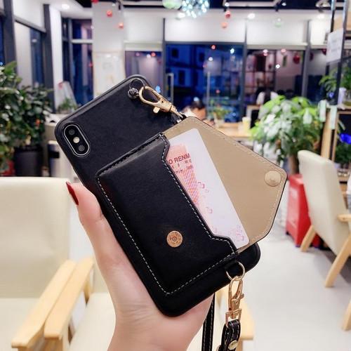 【即納発送】カード収納 ストラップ iPhoneケース ボディーケース