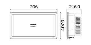 VBPC255GC1 パナソニック 太陽光発電用パワーコンディショナー パワコン(5.5kWタイプ、4回路、屋外用、集中型)
