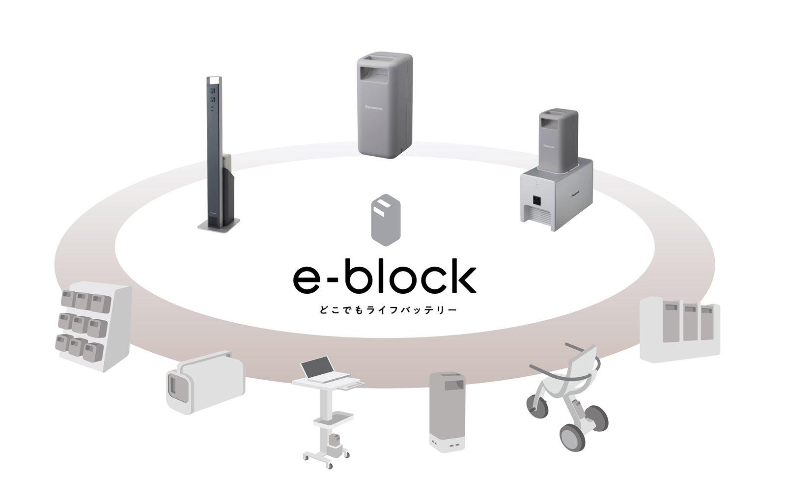 PQB0311A パナソニック 可搬型バッテリー e-block(イーブロック) リチウムイオン蓄電池