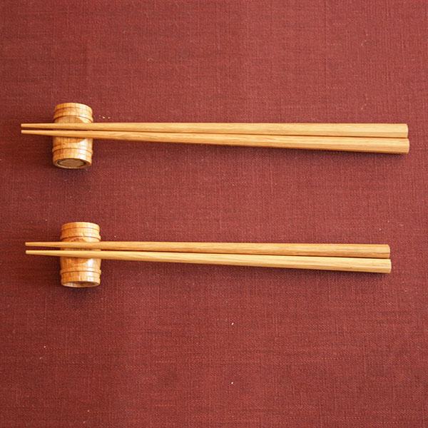 樽オーク夫婦箸セット