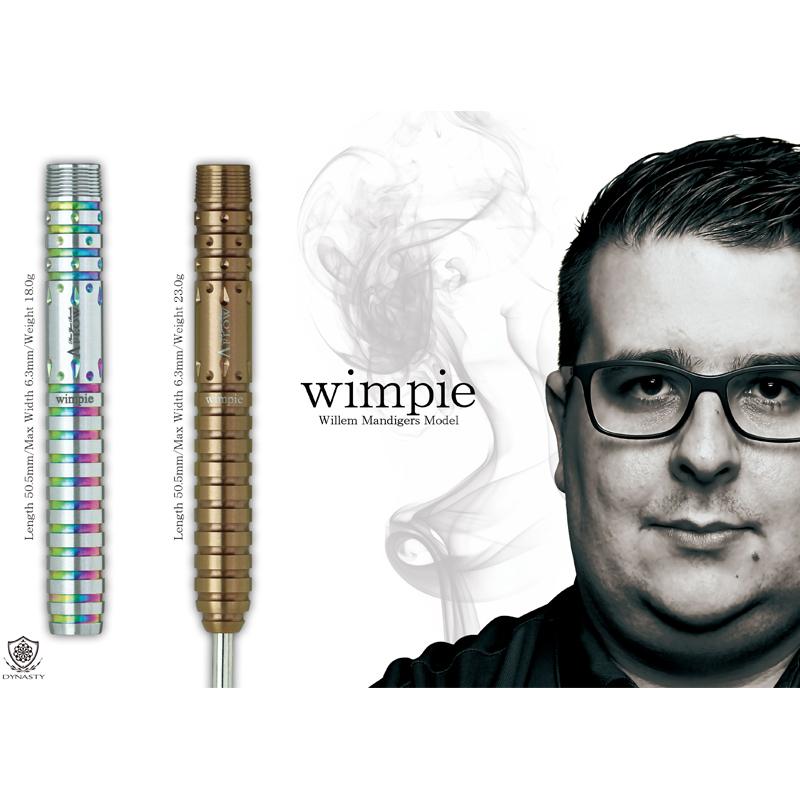 DYNASTY 【ダイナスティー】 ブラックライン ウィンピー (A-FLOW BLACK LINE Wimpie Willem Mandigers Model Tungsten90%) | ダーツ 2BAバレル 18.0g
