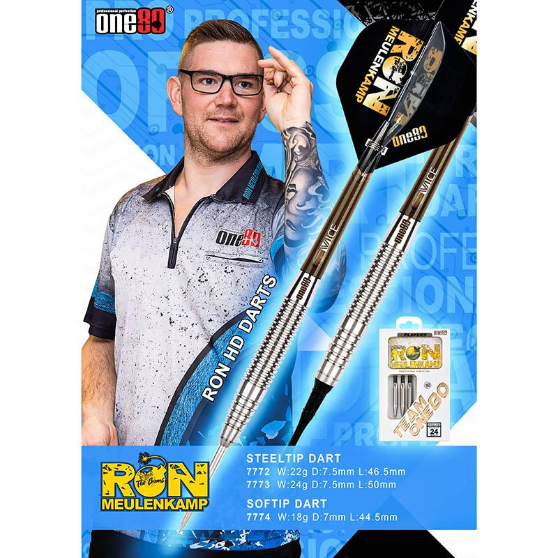 One80 【ワンエイティ】 ロン HD Ron Meulenkamp選手モデル (Ron Meulenkamp Tungsten80%)   ダーツ 2BAバレル 19.0g