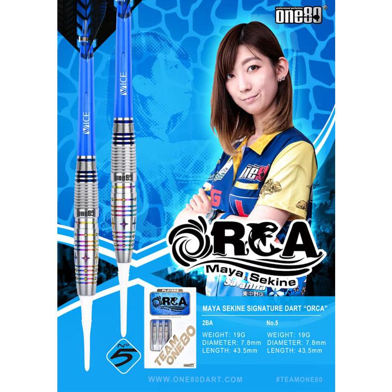 One80 【ワンエイティ】 オルカ 関根麻耶選手モデル (ORCA Tungsten90%)   ダーツ No.5バレル 19.0g