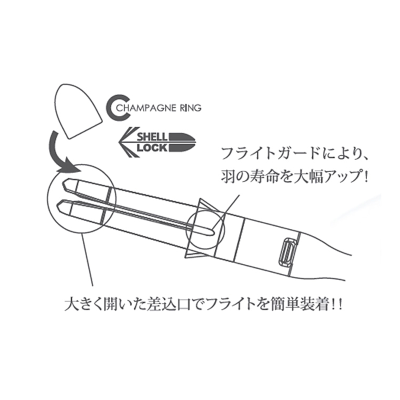L-style 【エルスタイル】 エルシャフト カーボン ロック レッド 190 (L-Shaft Carbon Lock Red)