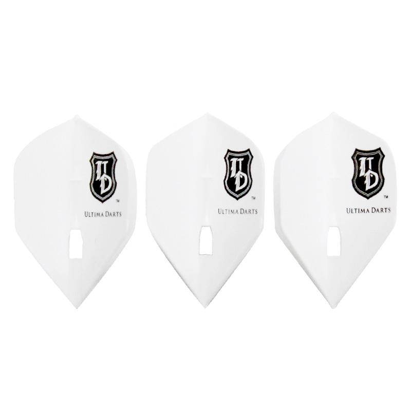 Flight-L×ULTIMA DARTS【フライトエル×アルティマダーツ】 アルティマダーツ ロゴ スタンダード ホワイト (Standard White L1c)   シャンパンリング対応