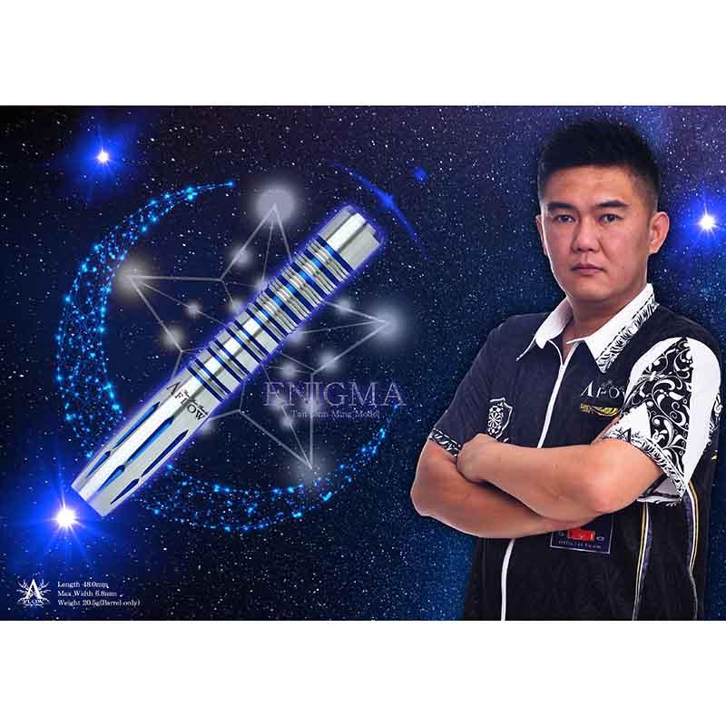 "DYNASTY 【ダイナスティー】 ブラックライン エニグマ (A-FLOW BLACK LINE ""ENIGMA"" Tan Jenn Ming Model Tungsten90%)   ダーツ 2BAバレル 20.5g"
