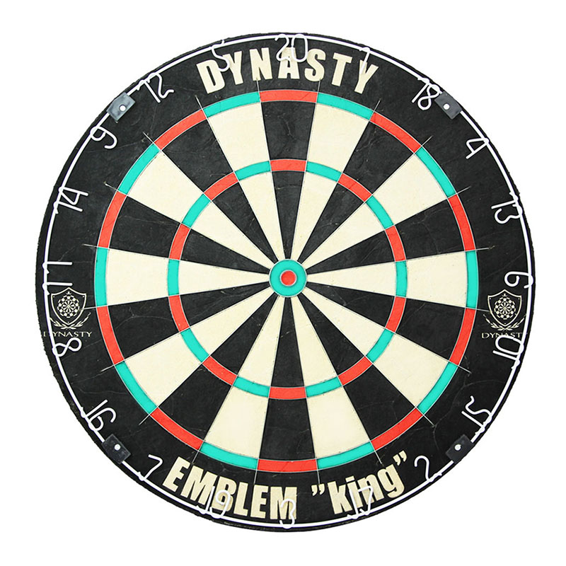 ハードダーツボード エムブレム キング タイプN【451】 & ダーツスタンド DY01 黒 セット
