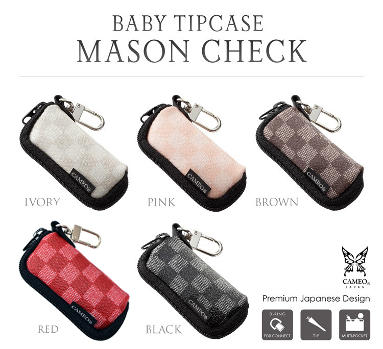 CAMEO BABY TIPCASE MASON CHECK [カメオ ベイビーチップケース メイソンチェック]