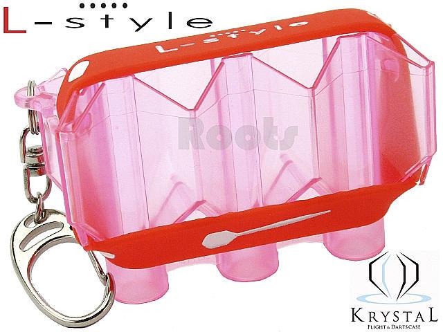 L-style KRYSTAL/クリアピンク/フライトケース