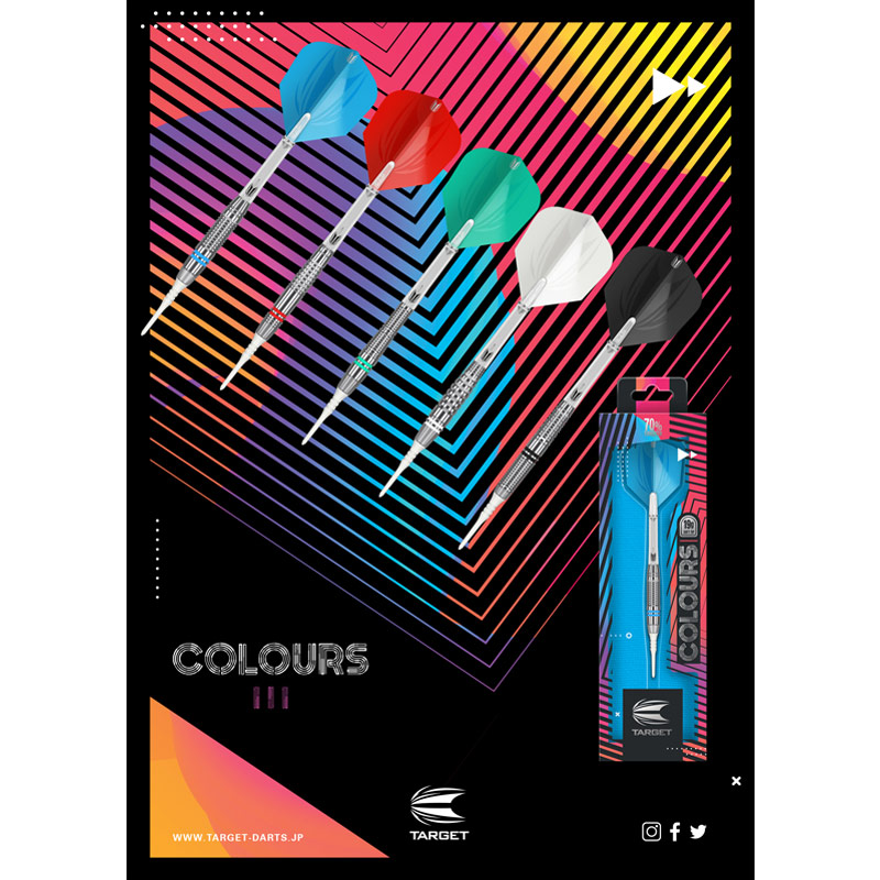 TARGET 【ターゲット】 カラーズ3 レッド (COLOURS3 Red Tungsten70%)   ダーツケース付き
