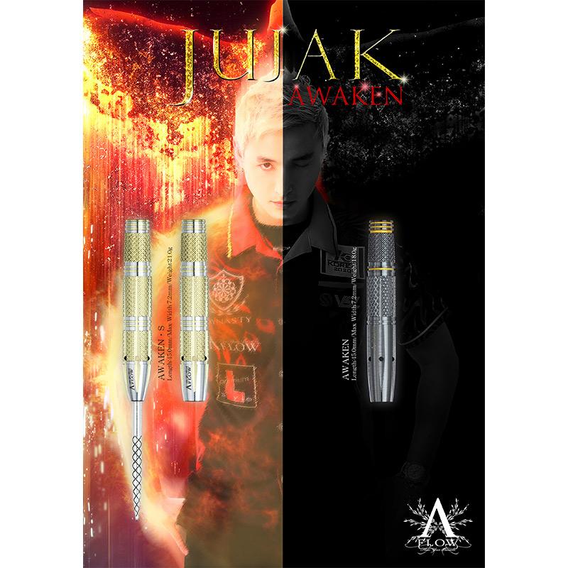 【予約商品 10月31日発売】 DYNASTY 【ダイナスティー】 エーフロー ブラックライン ジュジャク アウェイクン エス Park Hyunchul選手モデル (A-FLOW BLACK LINE JUJAK-AWAKEN S Tungsten90%)   ダーツ 2BAバレル 21.0g