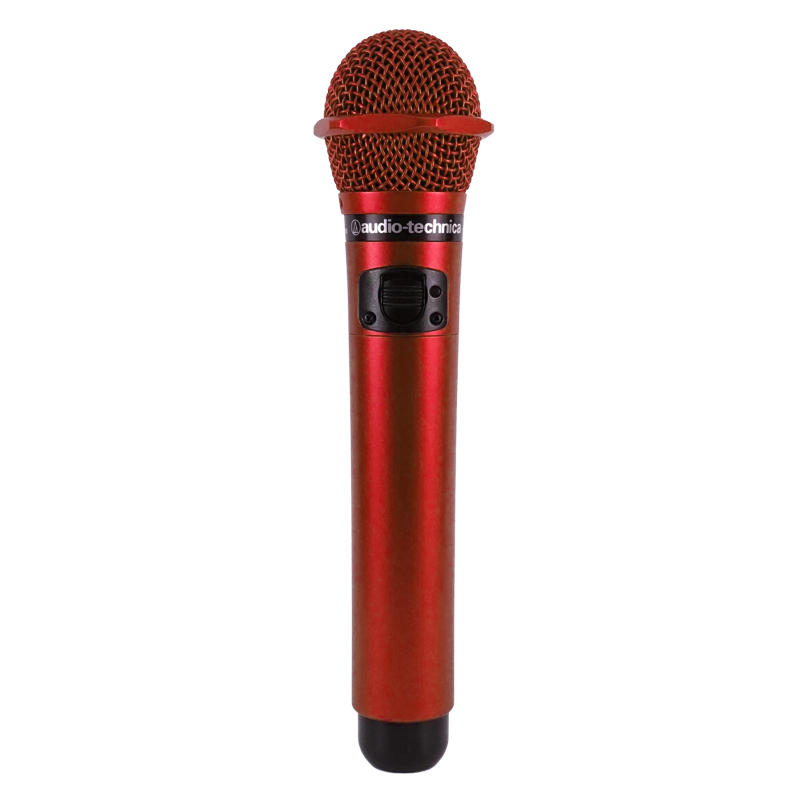 【MYマイク 名入れ プレゼント ギフト】赤外線ワイヤレスマイクロフォン AT-CLM7000TX レッド