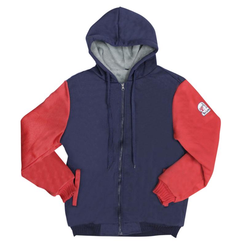 BASARA 【バサラ】 裏ボア パーカー レッド L (Back bore hoodie Red)