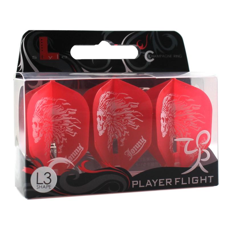 L-style 【エルスタイル】 フライトL 安食賢一(JONNY) シェイプ (L-Flight L3c shape RED)   シャンパンリング対応フライト