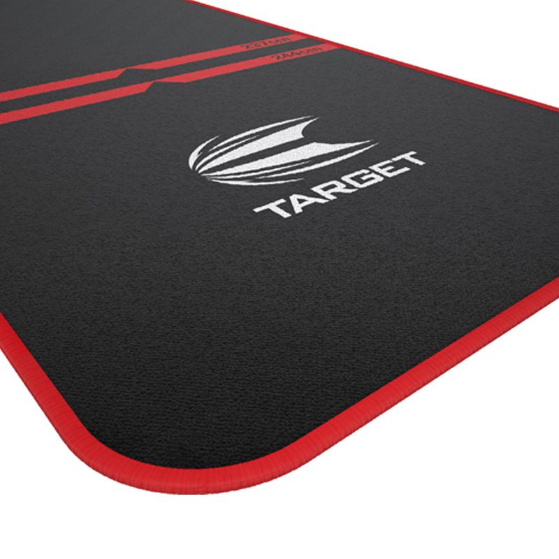 TARGET 【ターゲット】 ワールドチャンピオンダーツマット レッド (WORLD CHAMPION DARTS MAT RED)   スローラインプリント