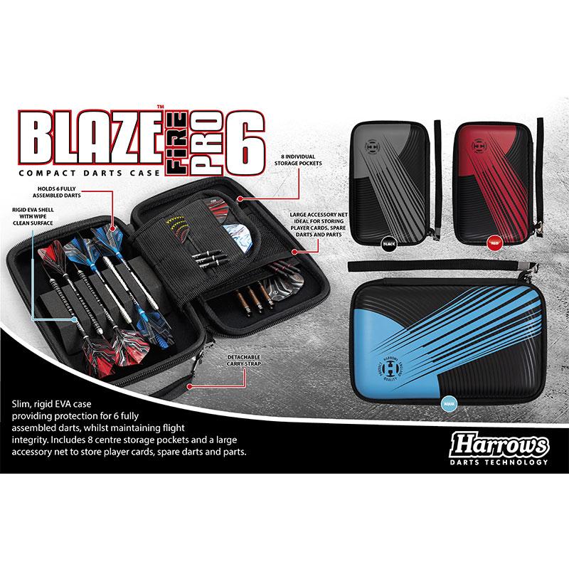 Harrows 【ハローズ】 ブレイズプロ6ファイアケース ブラック (BLAZE PRO 6 FIRE CASE BLACK) | ダーツケース