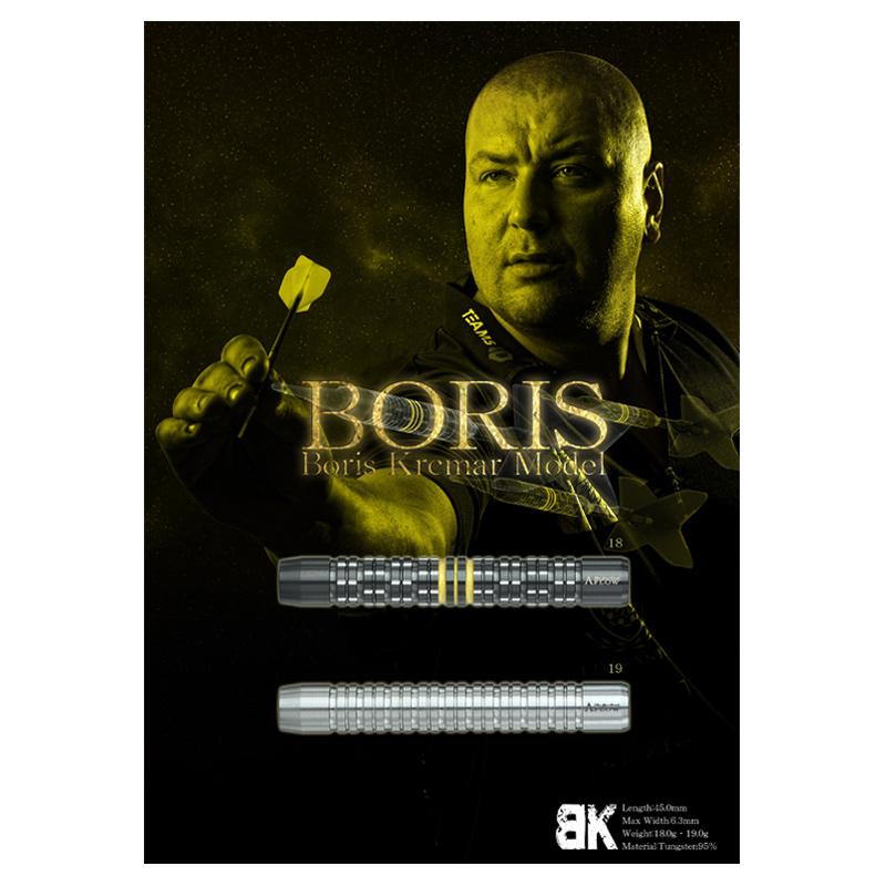 "DYNASTY 【ダイナスティー】 エーフロー ボリス 【19】 ボリス・カリチュマー選手モデル (A-FLOW BLACK LINE ""BORIS"" Boris Krcmar MODEL Tungsten95%) | ダーツ 2BAバレル 19.0g"