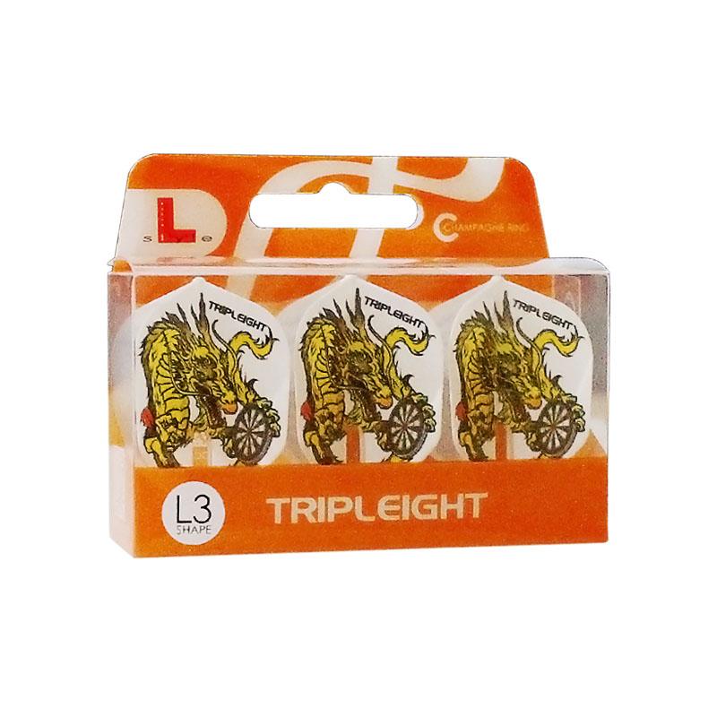 L-style 【エルスタイル】 DYNASTY×フライトL RYUKI シェイプ ホワイト (Flight-L L3c shape white) | シャンパンリング対応フライト