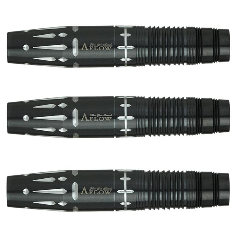 DYNASTY 【ダイナスティー】ブラックライン  リエル� プラス (A-FLOW BLACK LINE Coating RIELL� plus Tungsten95%) | ダーツ 2BAバレル 17.5g
