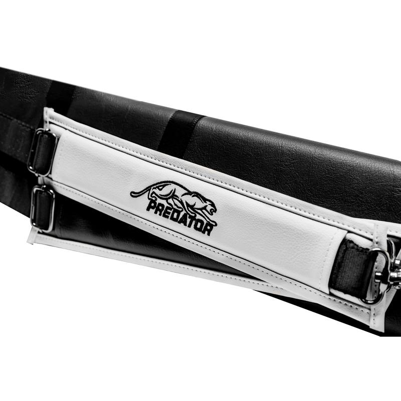 Predator 【プレデター】 ロードライン キューケース 2バット4シャフト ハード ブラックホワイト(Roadline Cue Case 2B4S Hard Black White)   ビリヤード キューケース